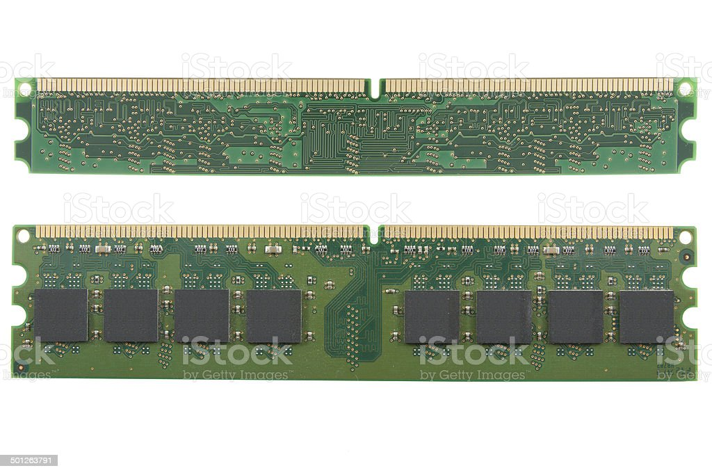 computer memory chip stock photo