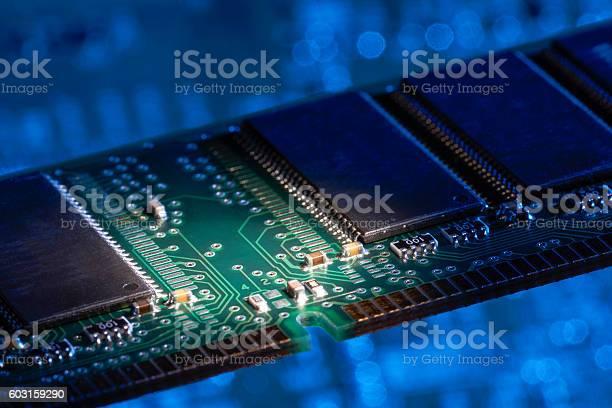 Computer Memory Closeup Stock Photo - Download Image Now