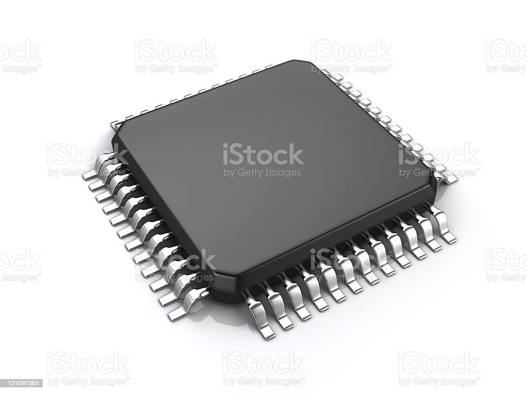 Computer micro chip royalty-free stock photo