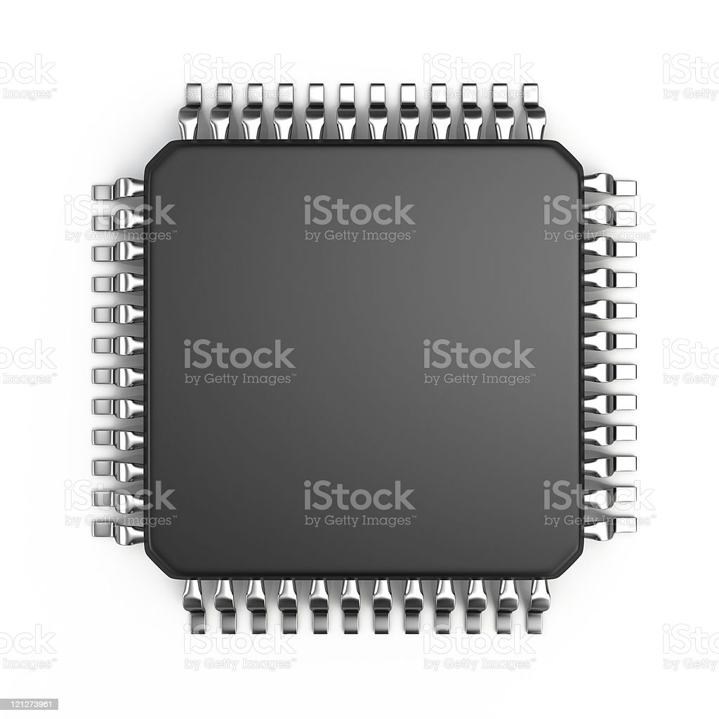Computer micro chip stock photo