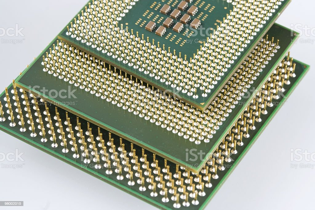 Computer micro processor royalty-free stock photo