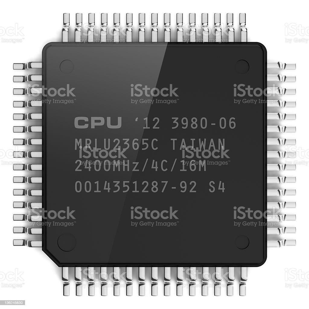 Computer microchip stock photo