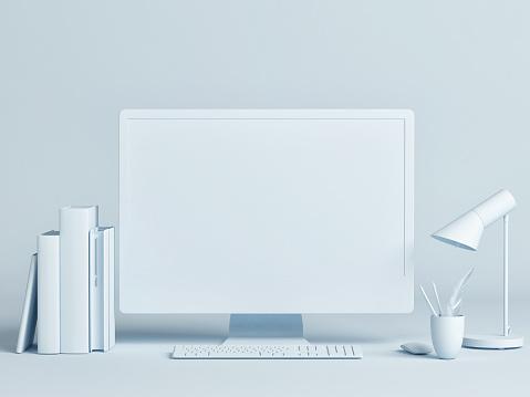istock Computer mock up minimal design concept 1154471768