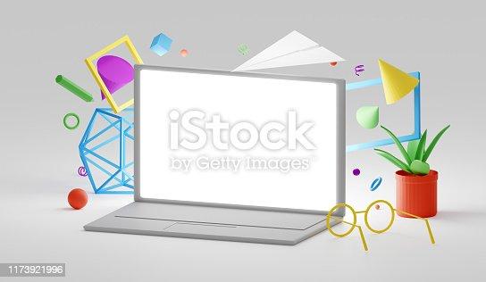 1173922060 istock photo Computer mockup scene 1173921996