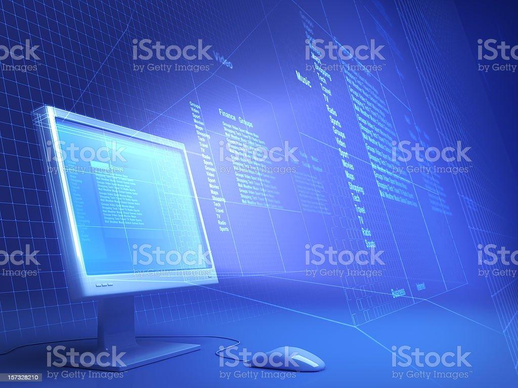 Computer Monitor royalty-free stock photo