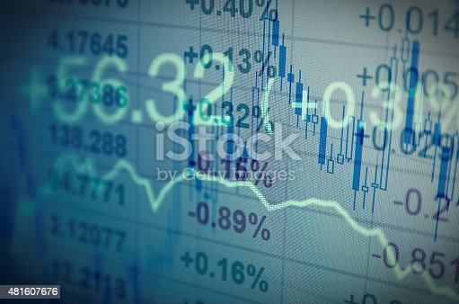 istock Computer monitor with trading software. Financial information. 481607676