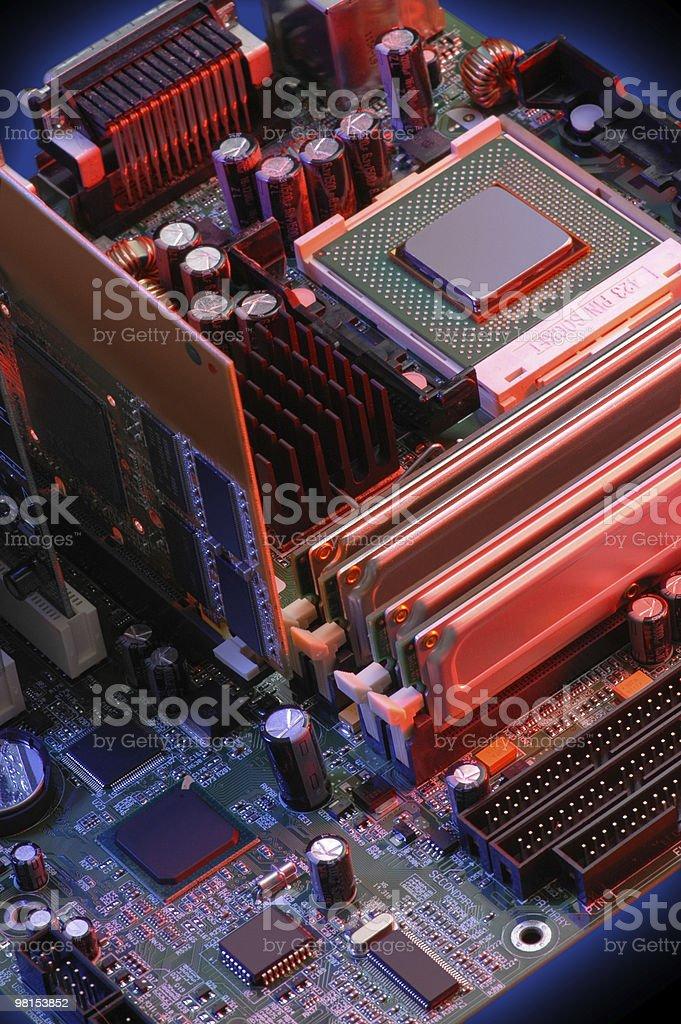컴퓨터 머더보드 표시중 CPU royalty-free 스톡 사진