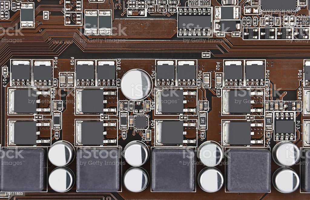 Computer motherboard board royalty-free stock photo
