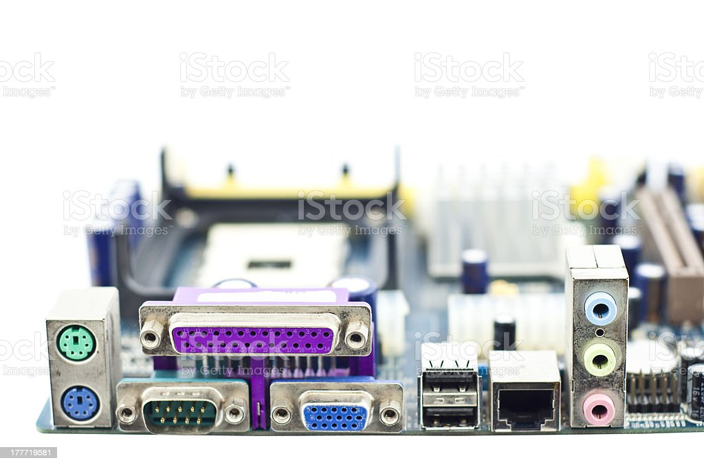 Computer mainboard. royalty-free stock photo