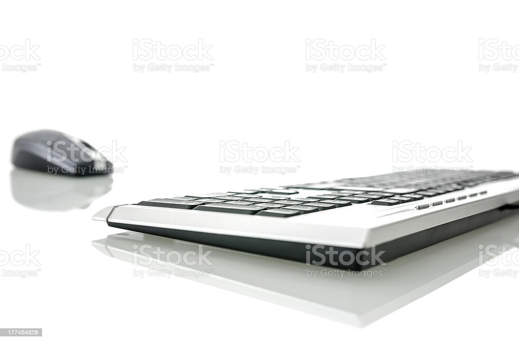 Computer mouse and keyboard royalty-free stock photo
