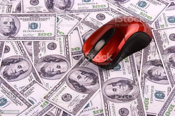 Computer Mouse And Money Stock Photo - Download Image Now