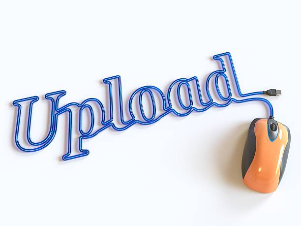 computer mouse and word upload - www xx stock photos and pictures