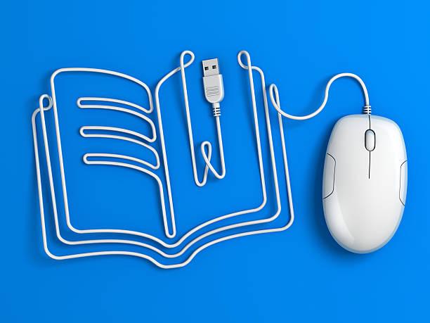 Computer mouse Kabel buchen-Blau – Foto