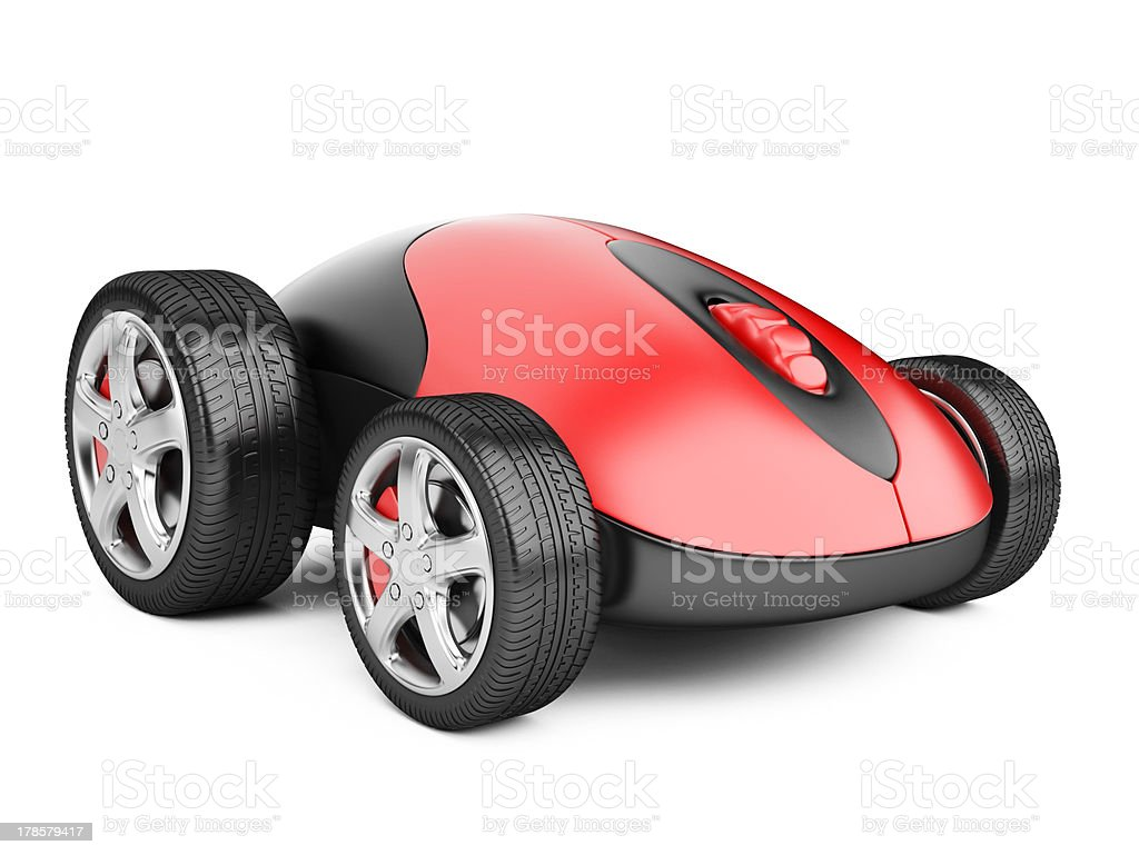 Computer mouse with wheels royalty-free stock photo