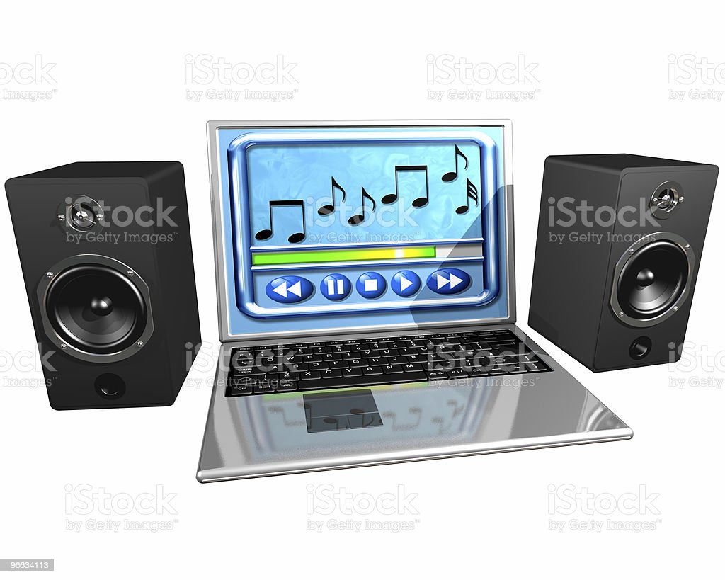 Computer music royalty-free stock photo