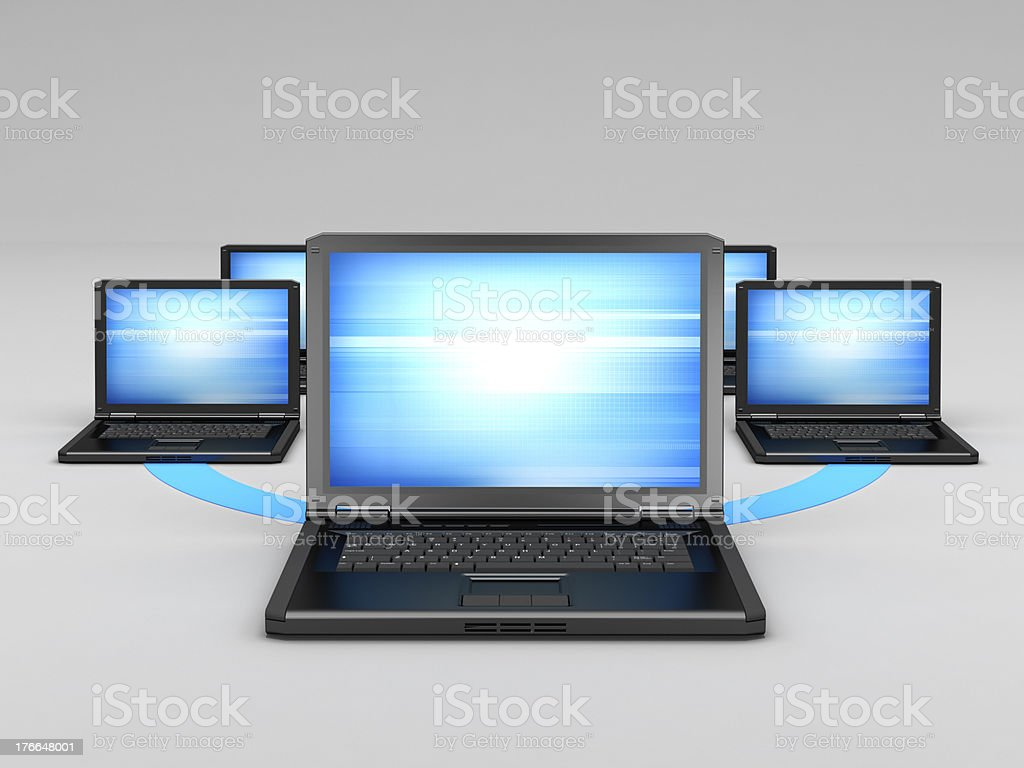Computer network - concept illustration royalty-free stock photo
