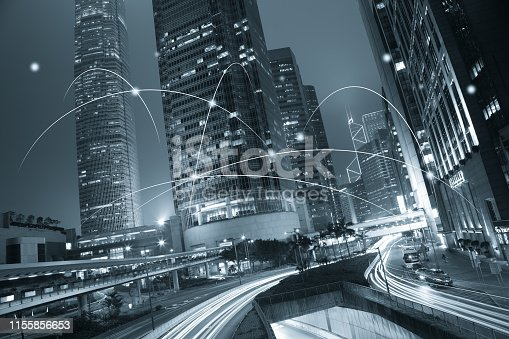 istock Computer network connection modern city future internet technology 1155856653