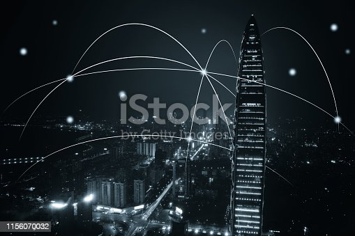 istock Computer network connection modern city future internet technology 1156070032