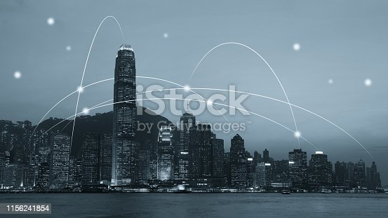 istock Computer network connection modern city future internet technology 1156241854