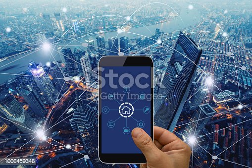 istock Computer network connection smart city future internet technology 1006459346