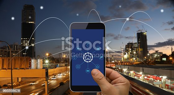 istock Computer network connection smart city future internet technology 993358628