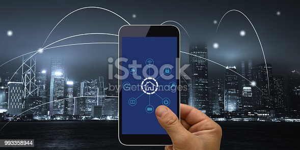 istock Computer network connection smart city future internet technology 993358944