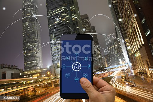 istock Computer network connection smart city future internet technology 993359714