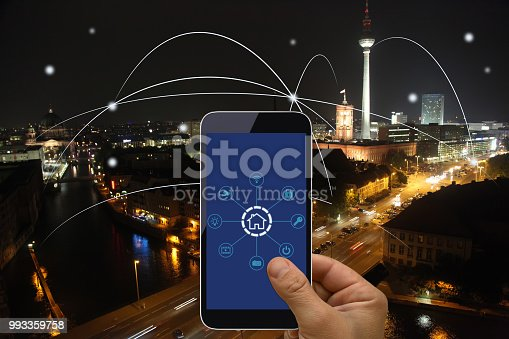 istock Computer network connection smart city future internet technology 993359758