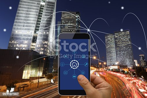 istock Computer network connection smart city future internet technology 993597562