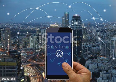 istock Computer network connection smart city future internet technology 993597668