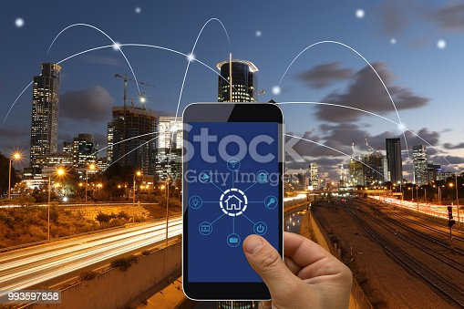 istock Computer network connection smart city future internet technology 993597858