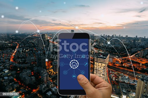 istock Computer network connection smart city future internet technology 993599392