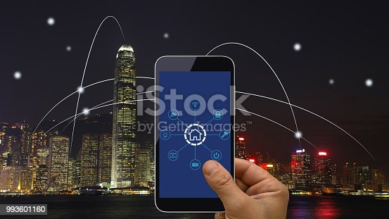 istock Computer network connection smart city future internet technology 993601160