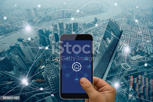 istock Computer network connection smart city future internet technology 993601492