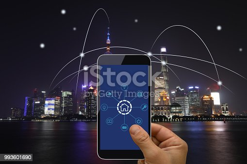 istock Computer network connection smart city future internet technology 993601690