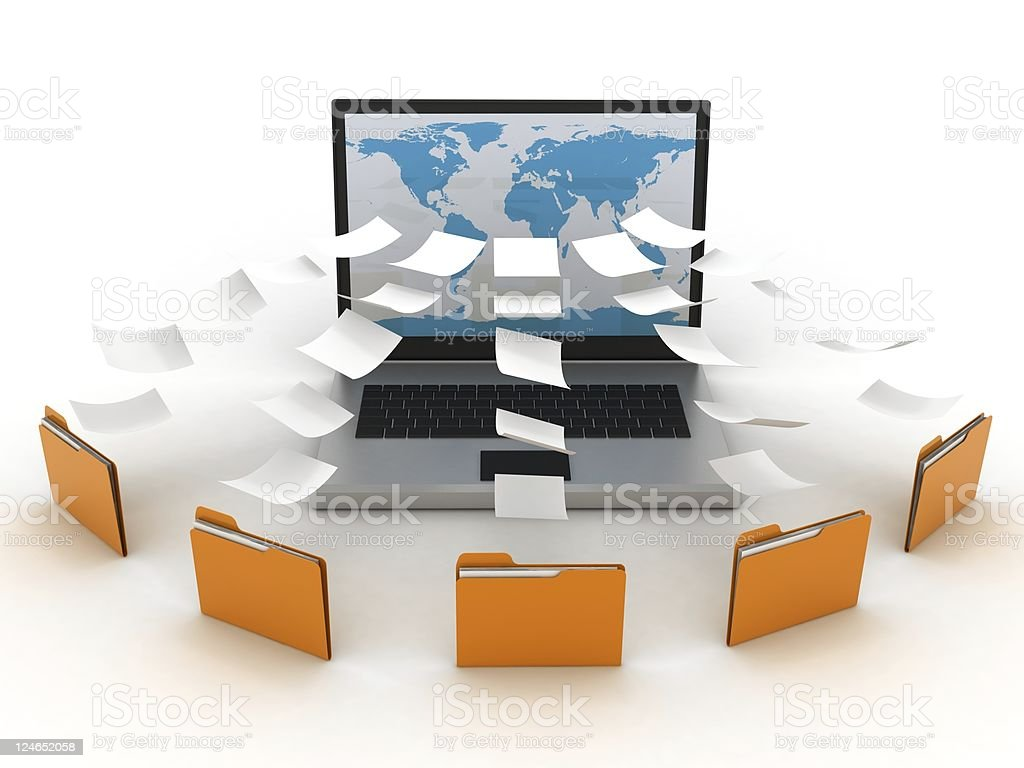 Computer network database stock photo