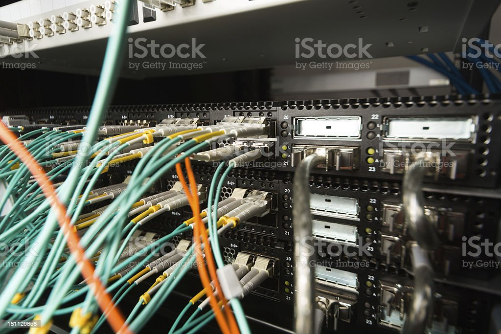 Computer network hub royalty-free stock photo