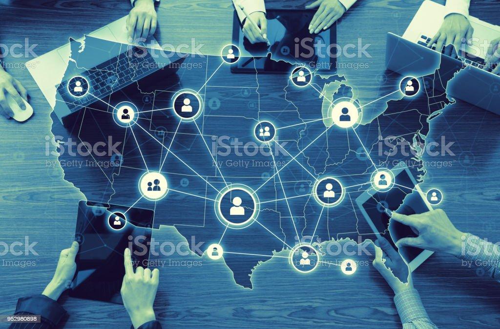 美利堅合眾國電腦網路。圖像檔