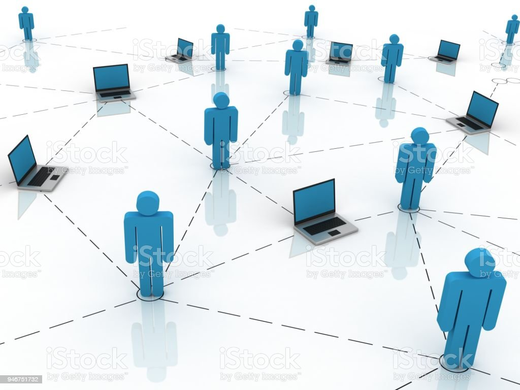 Computernetzwerk Personen Kommunikation, social-media-Konzept – Foto