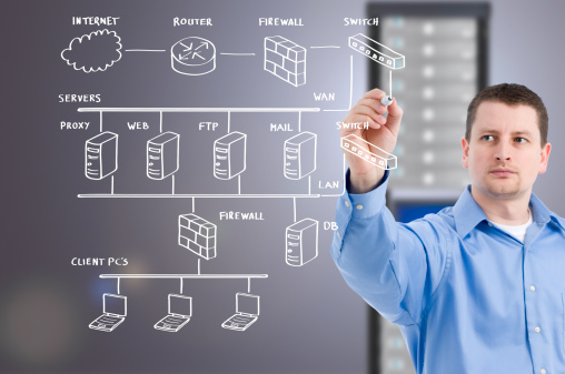 Computer Network Stock Photo - Download Image Now