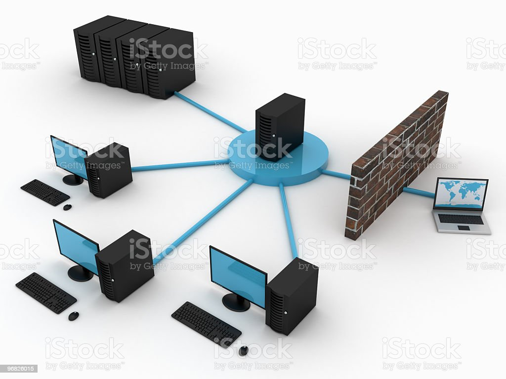 Computer network royalty-free stock photo