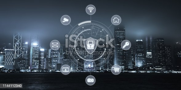 istock Computer network security cyber connection information safety data protection encryption 1144112340