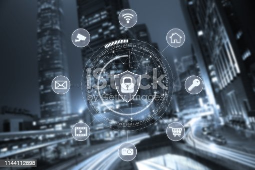 istock Computer network security cyber connection information safety data protection encryption 1144112898
