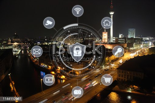 istock Computer network security cyber connection information safety data protection encryption 1144112961