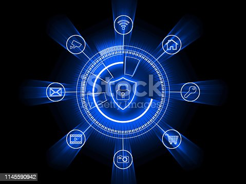 istock Computer network security cyber connection information safety data protection encryption 1145590942