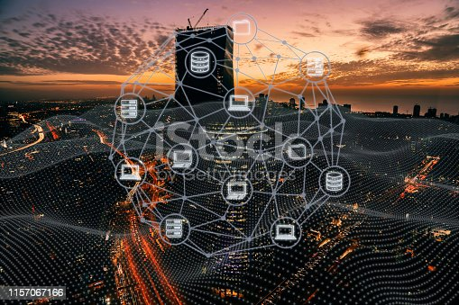 istock Computer network security internet communication technology 1157067166