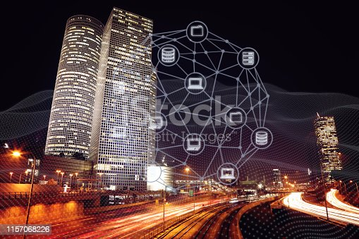 istock Computer network security internet communication technology 1157068226