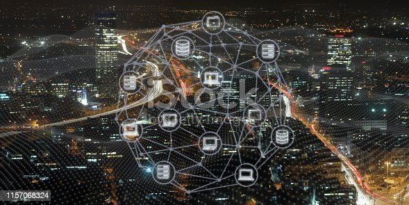 istock Computer network security internet communication technology 1157068324