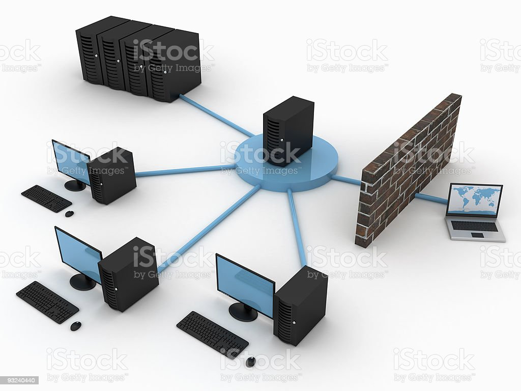 Computer network security royalty-free stock photo