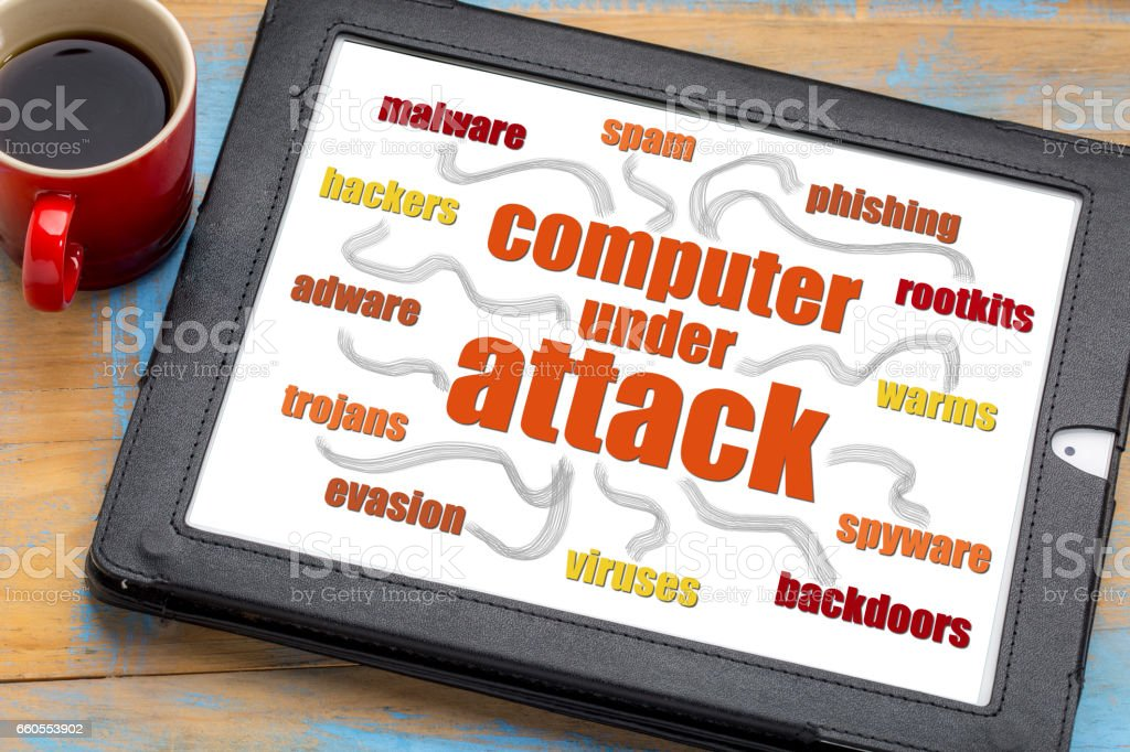 computer network security word cloud stock photo